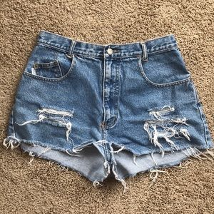 Pants - Cutoff Jean Shorts